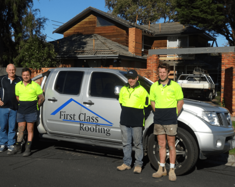 First Class Roofing Team