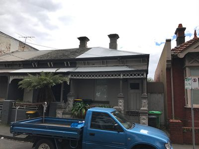 Carlton terrace House with colorbond roof