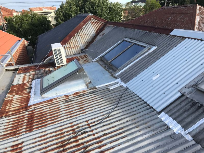 Before – Old Rusted Metal Roof