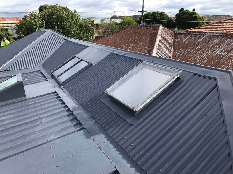 New colorbond roof installed