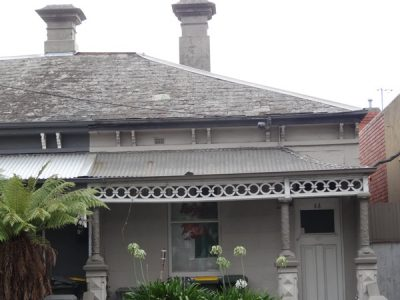 Before – Carlton Terrace House With Old Slate Tiles