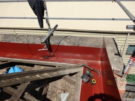 new corner parapet manor red color colorbond roofing