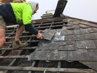 Kensington – Removal Of Old Slate Tiles