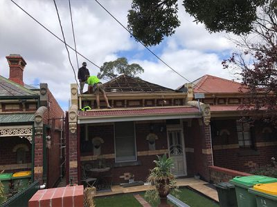 Northcote- new colorbond deep blue roof