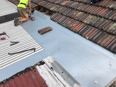 flat metal roofing service